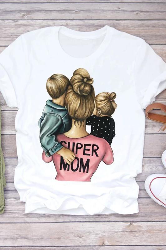 Süper Anne Karikatürlü Tişört